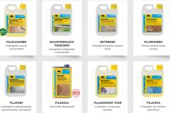 Productos Fila para la limpieza y el mantenimiento de superficies